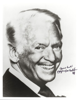 DOUGLAS FAIRBANKS JR. - AUTOGRAPHED SIGNED PHOTOGRAPH 1999