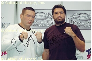 JOHNNY RUIZ - AUTOGRAPHED SIGNED PHOTOGRAPH CO-SIGNED BY: RUSLAN CHAGAEV