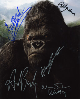 KING KONG (2005) MOVIE CAST - AUTOGRAPHED SIGNED PHOTOGRAPH CO-SIGNED BY: ADRIEN BRODY, NAOMI WATTS, JACK BLACK, ANDY SERKIS, PETER JACKSON