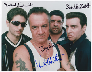 THE SOPRANOS TV CAST - AUTOGRAPHED SIGNED PHOTOGRAPH CO-SIGNED BY: MICHAEL IMPERIOLI, STEVEN VAN ZANDT, TONY SIRICO, VINCENT PASTORE