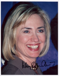 FIRST LADY HILLARY RODHAM CLINTON - AUTOGRAPHED SIGNED PHOTOGRAPH