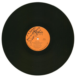 FRANKIE LAINE - INSCRIBED RECORD SIGNED