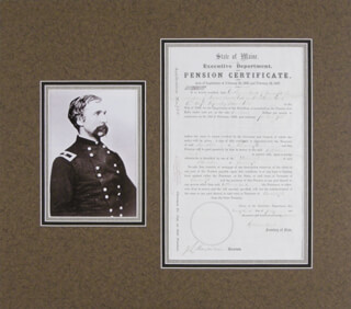 Autographs: MAJOR GENERAL JOSHUA LAWRENCE CHAMBERLAIN - DOCUMENT SIGNED 07/23/1867