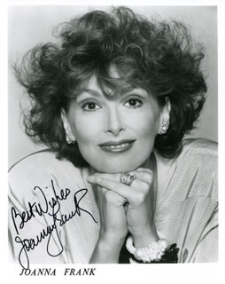JOANNA FRANK - AUTOGRAPHED SIGNED PHOTOGRAPH
