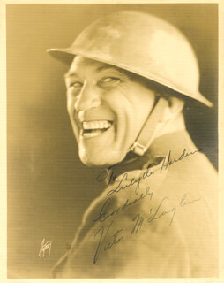 VICTOR McLAGLEN - AUTOGRAPHED INSCRIBED PHOTOGRAPH