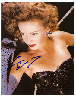 CYD CHARISSE - AUTOGRAPHED SIGNED PHOTOGRAPH