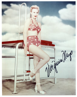 VIRGINIA MAYO - AUTOGRAPHED SIGNED PHOTOGRAPH