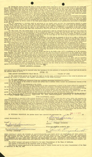 THE LENNON SISTERS - CONTRACT SIGNED 12/15/1970 CO-SIGNED BY: THE LENNON SISTERS (KATHY LENNON), THE LENNON SISTERS (JANET LENNON), THE LENNON SISTERS (PEGGY LENNON), THE LENNON SISTERS (DIANNE LENNON)