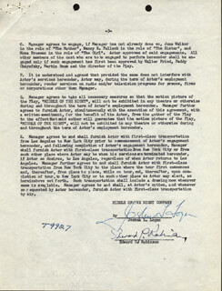 EDWARD G. ROBINSON - CONTRACT SIGNED 06/28/1957 CO-SIGNED BY: JOSHUA LOGAN