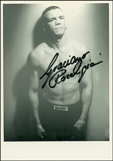 GRACIANO ROCKY ROCCHIGIANI - AUTOGRAPHED SIGNED PHOTOGRAPH