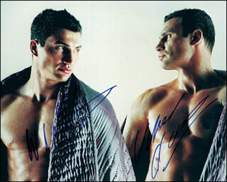 VITALI DR. IRON FIST KLITSCHKO - AUTOGRAPHED SIGNED PHOTOGRAPH CO-SIGNED BY: WLADIMIR KLITSCHKO