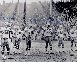 DALLAS COWBOYS - AUTOGRAPHED SIGNED PHOTOGRAPH CO-SIGNED BY: GEORGE ANDRIE, BOB LILLY, JETHRO PUGH, LARRY COLE