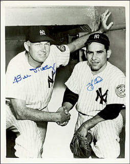 BILL DICKEY - AUTOGRAPHED SIGNED PHOTOGRAPH CO-SIGNED BY: YOGI BERRA