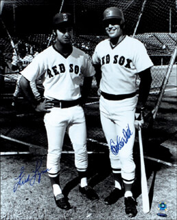CARLTON PUDGE FISK - AUTOGRAPHED SIGNED PHOTOGRAPH CO-SIGNED BY: FRED LYNN