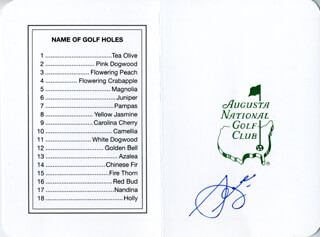 SEVE BALLESTEROS - SCORECARD SIGNED
