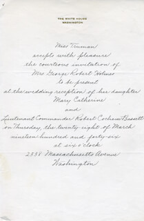 MARGARET TRUMAN - THIRD PERSON AUTOGRAPH LETTER CIRCA 1946