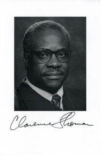 ASSOCIATE JUSTICE CLARENCE THOMAS - BOOK PHOTOGRAPH SIGNED