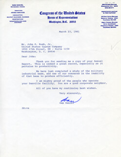 DAN DANIEL - TYPED LETTER SIGNED 03/23/1981