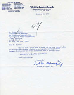 WILLIAM B. SPONG JR. - TYPED LETTER SIGNED 11/22/1972