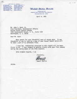 HOWELL HEFLIN - TYPED LETTER SIGNED 04/06/1981