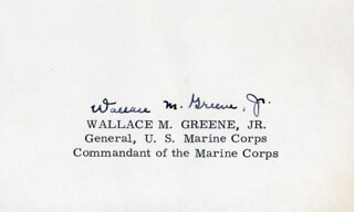 GENERAL WALLACE M. GREENE JR. - AUTOGRAPH