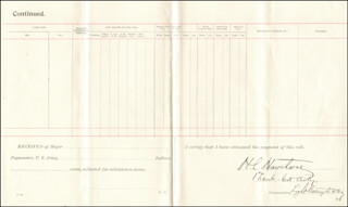 Autographs: HARRY L. HAWTHORNE - DOCUMENT SIGNED CIRCA 1899
