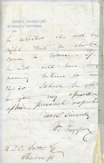 SIR WILLIAM FERGUSSON - AUTOGRAPH LETTER SIGNED 02/18/1865