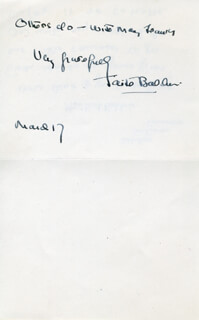 FAITH BALDWIN - AUTOGRAPH NOTE SIGNED 03/17