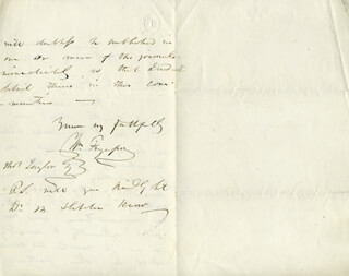 SIR WILLIAM FERGUSSON - AUTOGRAPH LETTER SIGNED 07/24/1854