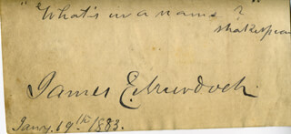 JAMES E. MURDOCH - AUTOGRAPH QUOTATION SIGNED 01/19/1883