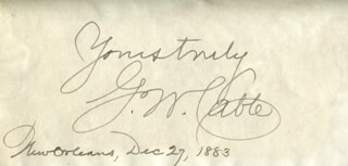 GEORGE WASHINGTON CABLE - AUTOGRAPH 12/27/1883