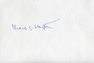 FRANK G. SLAUGHTER - AUTOGRAPH