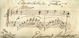 EDMUND NEUPERT - AUTOGRAPH MUSICAL QUOTATION SIGNED 2/1883