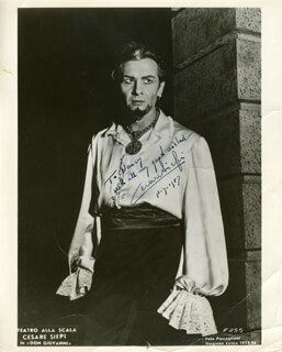 CESARE SIEPI - AUTOGRAPHED INSCRIBED PHOTOGRAPH 1957
