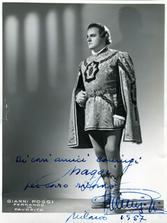 GIANNI POGGI - AUTOGRAPHED INSCRIBED PHOTOGRAPH 1957