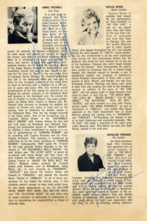 OH, NELLIE! PLAY CAST - PROGRAM SIGNED CIRCA 1967 CO-SIGNED BY: KATHLEEN FREEMAN, STEWART ROSE, HARVE PRESNELL