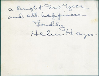 HELEN HAYES - AUTOGRAPH LETTER SIGNED 12/30/1945