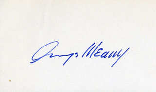 GEORGE MEANY - AUTOGRAPH
