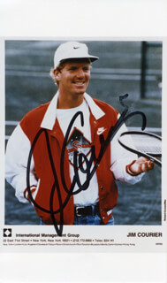 JIM COURIER - AUTOGRAPHED SIGNED PHOTOGRAPH