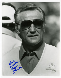 DON SHULA - AUTOGRAPHED SIGNED PHOTOGRAPH