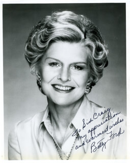 FIRST LADY BETTY FORD - AUTOGRAPHED INSCRIBED PHOTOGRAPH