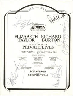 ROCK HUDSON - PROGRAM SIGNED CIRCA 1967 CO-SIGNED BY: DANNY THOMAS, MOREY AMSTERDAM, CAROL BURNETT, JOAN CAULFIELD