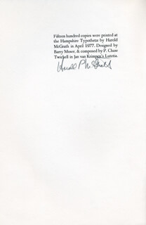 HAROLD P. MCGRATH - PROGRAM SIGNED