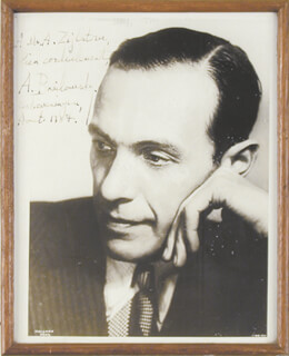 ALEXANDER BRAILOWSKY - AUTOGRAPHED INSCRIBED PHOTOGRAPH 8/1937