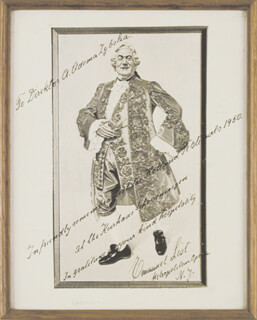 EMANUEL LIST - INSCRIBED ILLUSTRATION SIGNED