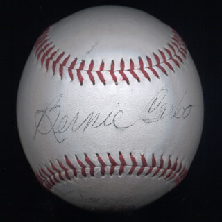 BERNIE CARBO - AUTOGRAPHED SIGNED BASEBALL