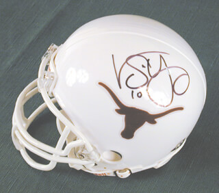 VINCE YOUNG - FOOTBALL HELMET SIGNED