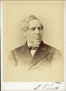 SAMUEL FRANCIS SMITH - PHOTOGRAPH MOUNT SIGNED