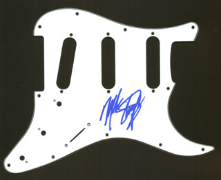 SLAUGHTER (MARK SLAUGHTER) - PICK GUARD SIGNED