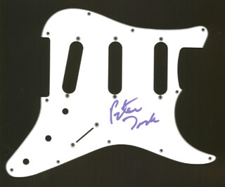 THE MONKEES (PETER TORK) - PICK GUARD SIGNED